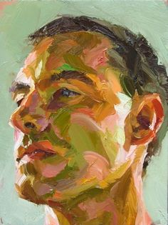 Paul  Wright Wright  Archive - Paul Wright  Green Head - Oil on copper