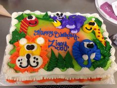 1/4 Sheet zoo time cake
