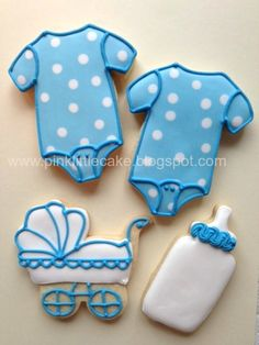 Baby boy showers | Baby Shower cookies for a boy and a baby girl