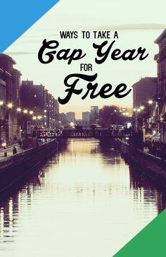 Free Gap Year and Exchange Programs. #travel #gapyear