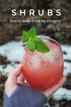 how to make shrubs aka drinking vinegars 3 refreshing recipes Drinks Alcohol Recipes, Non Alcoholic Drinks, Fun Drinks, Beverages, Fruity Drinks, Mixed Drinks, Yummy Drinks, Healthy Drinks, Drink Recipes