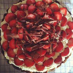 Homemade strawberrypie recipe /// hjemmelavet jordbærtærte opskrift