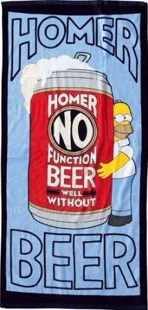 The Simpsons Strandlaken Homer Beer 152 x 75 cm
