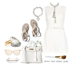 """""""The White Party #2442"""" by gaburrus ❤ liked on Polyvore featuring River Island, Abercrombie & Fitch, Hermès, Tiffany & Co., Isaac Mizrahi, Valentino, Miu Miu, Summer, white and polyvoreOOTD"""