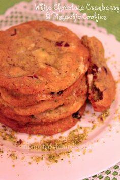 White Chocolate Cranberry & Pistachio Cookies