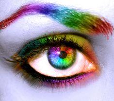 Rainbow eyes...God left the rainbow after the flood. It is His promise to never flood the earth again. amen!