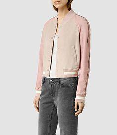 Leather jackets for women, shop now. Latest Fashion For Women, Womens Fashion, Fashion Trends, Ladies Fashion, Dusty Pink, Street Wear, Bomber Jacket, Leather Jacket, Style Inspiration