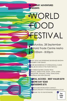 World Food Festival Poster food poster – Dinner Food Poster Festival, Festival Logo, Festival Flyer, Beer Festival, Food Festival, Poster Sport, Poster Cars, Poster Retro, Poster Design Inspiration