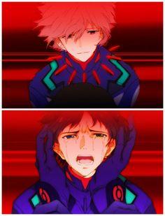 Neon Genesis Evangelion. Kaworu x Shinji. Kaworu Nagisa & Shinji Ikari.