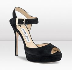 684a7b01da0 Jimmy Choo Linda black suede platform sandals New for CHOO these suede  wedge sandals are the perfect evening sandals.