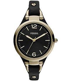 Fossil Georgia Watch. Oooo I've been wanting a black watch