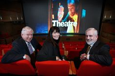 Pictured at the Theatre at the Mill, Newtownabbey at the first screening of a film in support of the Fair Deal for the Arts NI campaign (2011) are (from left): Ken Robinson MLA; Ursula Fay, Culture Development Manager, Theatre at The Mill; and Nick Livingston, Arts Council of Northern Ireland