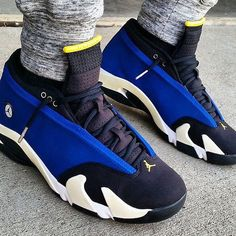 "ON SALE! Nike Air Jordan 14 Retro Low ""Laney"" Available at kickbackzny.com."