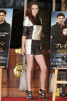 Kristen Stewart in Louis Vuitton at Tokyo premiere of new Twilight movie.