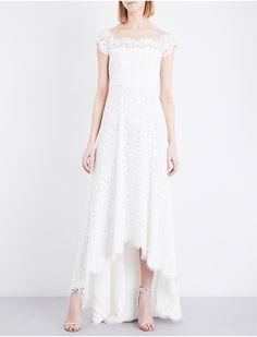 9766da9174b8c Rose off-the-shoulder floral-lace wedding dress