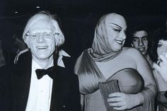 Andy Warhol + Divine, patrons of Max's.