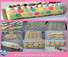 When You See Her Unique Way Of Making Polka Dot cake You'll Want To Try This Yourself