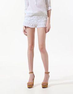 CROCHET SHORTS - Trousers - Woman - ZARA United States $21.99