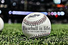 Baseball is life. The rest is just details.