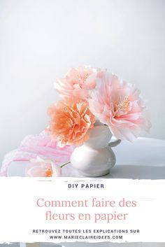 Comment faire des fleurs en papier / diy fleurs en papier