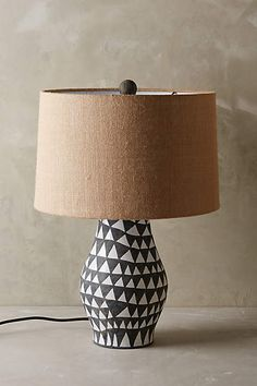 Shop Anthropologie's collection of unique table lamps & bedside table lamps, including the season's newest arrivals. Unique Lighting, Home Lighting, Decorative Lighting, Office Lighting, Lighting Ideas, Lighting Design, Unique Table Lamps, Rustic Lamps, House Lamp
