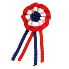 14 juillet, fête nationale française - la cocarde tricolore