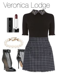 A fashion look from February 2018 featuring floral knit top, checkerboard skirt and ankle boots. Browse and shop related looks. Preppy Outfits, Girly Outfits, Classy Outfits, Spring Outfits, Cool Outfits, Veronica Lodge Fashion, Veronica Lodge Outfits, Veronica Lodge Style, Veronica Lodge Aesthetic