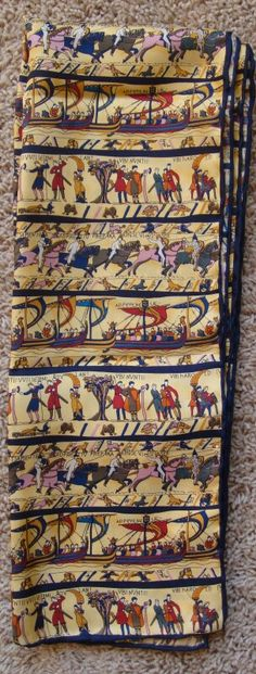 Bayeux tapestry silk scarf-I would love to have this!