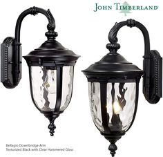 John Timberland Bellagio Carriage Style Outdoor Downbridge Arm (Top Arm) Wall Lights Led Path Lights, Outdoor Hanging Lights, Outdoor Post Lights, Outdoor Wall Lighting, Outdoor Walls, Wall Lights, Landscape Lighting Kits, Glass Material, Candelabra