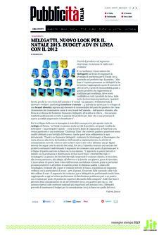 Melegatti, le novità su «Pubblicità Italia» con l'intervista a Gianluca Cazzulo.
