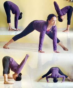 A collage of yoga poses to keep you young