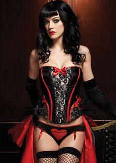 Black   Red Raven Corset with Support Boning and Side Zipper Corset Noir cba7de2bf
