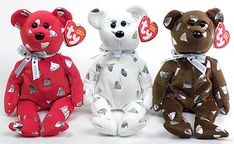 Yummy, Ty Beanie Baby bear, reference information and photograph. Beanie Baby Bears, Ty Beanie Boos, Teddy Bear Cartoon, My Teddy Bear, Beenie Babies, Winnie The Pooh Christmas, Ty Bears, Hello Kitty Characters, Hershey Bears
