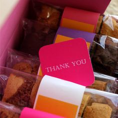 Thank You Box of Biscotti. Gourmet Cookies online: www.biscuitgourmet.com