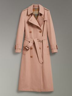 Tropical Gabardine Trench Coat in Pink Apricot - Women | Burberry Australia - cell image 3