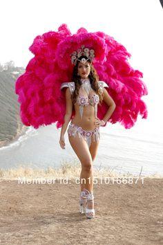 Splendid!!! Mulheres fantasia de carnaval sexy pena traje teatral para shows/clubes/festas/desempenho/halloween