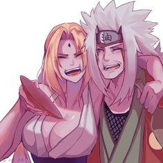 Jiraya and Tsunade Anime Naruto, Naruto Shippuden Sasuke, Thicc Anime, Naruto Art, Itachi, Sasunaru, Tsunade And Jiraiya, Lady Tsunade, Narusaku