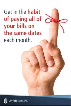 Credit-Tip-Tuesday!   Setting aside a regular time for bill payment can help you to avoid missing one.