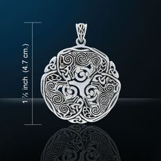 Celtic WOLF White Bronze Silver Plated Norse Celtic Triskele Wolf energy amulet
