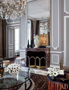 De una pareja americana de París. Celebración del estilo Francés: Architectural Digest. Magnífico !