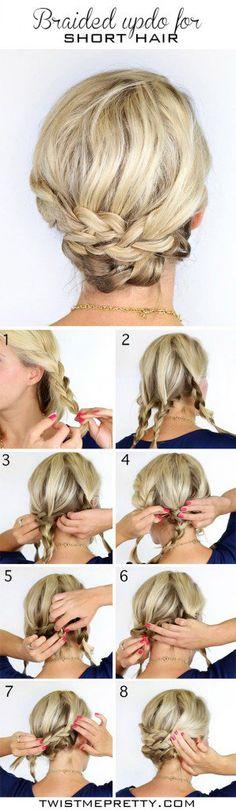 DIY wedding hairstyles - short hair