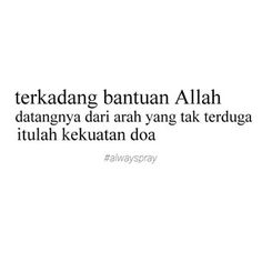 jangan lupa buat berdoa