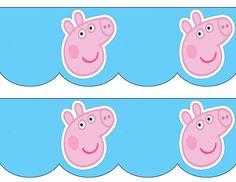 Free to use and free to share for personal use only. Peppa Pig Bunting Banner.