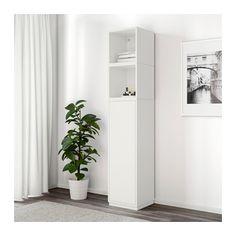 EKET Storage combination with base frame - white - IKEA