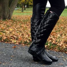 """""""These boots were made for walking...and playing in the leaves  #fall #fallfashion #sotd #a_classic_touch #fblogger #fashionblogger #hunters #prep #preppy #quilted #rainboots #wearwhatwhereoctober"""" Photo taken by @a_classic_touch on Instagram, pinned via the InstaPin iOS App! http://www.instapinapp.com (10/24/2015)"""