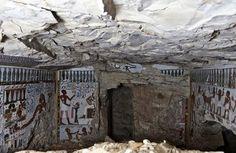 """Imagen de la tumba del """"guardián de la puerta del dios Amón"""" hallada en Luxor."""