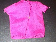 Pink cardigan suitable for a Barbie / Sindy doll
