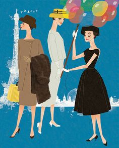Audrey Hepburn Art Funny Face Fashion by BigFashionBookPrints