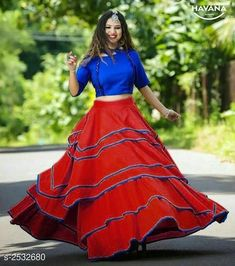 Stylish Art Silk Layered Lehenga Cholis from Fitabouts Lehenga Collection, Dress Collection, Bridal Collection, Indian Designer Outfits, Designer Dresses, Designer Wear, Blouse Art, Net Blouses, Lehenga Choli Online
