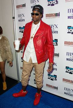2 Chainz in Chanel Sunglasses and Red Buscemi Sneakers at Power 105.1′s Powerhouse 2013